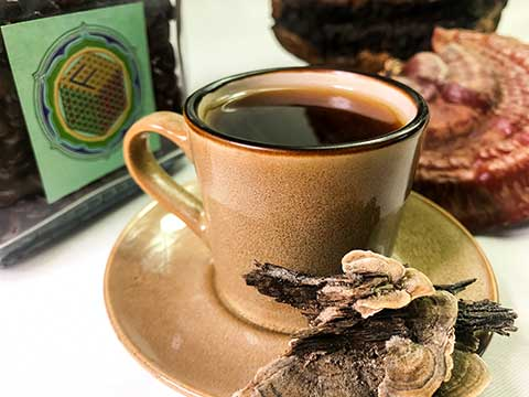 Medicinal Mushroom Coffee on grains : Reishi, Chaga & Turkey Tail Espresso